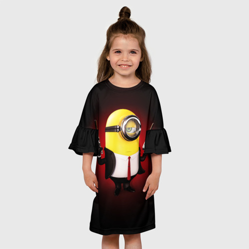 Детское платье 3D  Фото 01, Minion Hitman