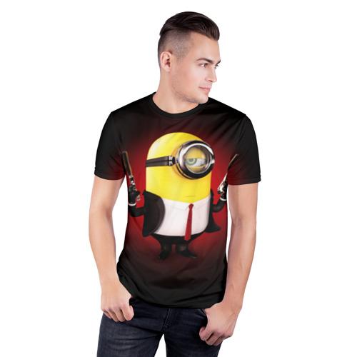 Мужская футболка 3D спортивная  Фото 03, Minion Hitman