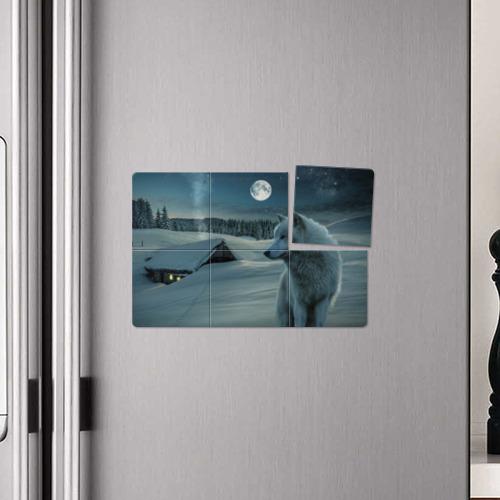Магнитный плакат 3Х2  Фото 04, Ночь в Тайге
