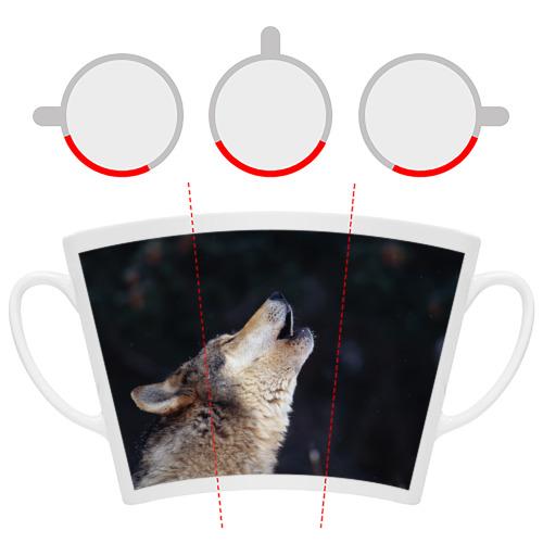 Кружка Латте  Фото 06, Вой серого волка