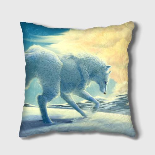 Подушка 3D  Фото 02, Белый волк