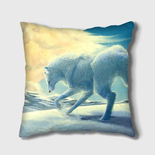 Подушка 3D  Фото 01, Белый волк
