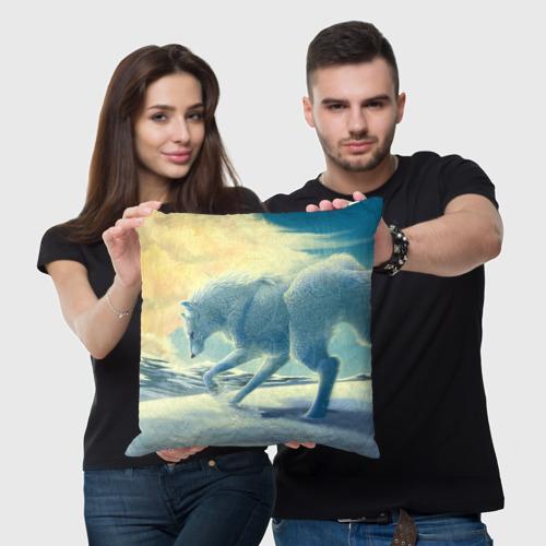 Подушка 3D  Фото 05, Белый волк