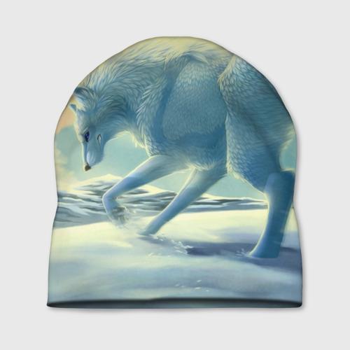 Шапка 3D  Фото 01, Белый волк