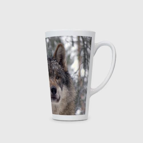 Кружка Латте  Фото 02, Серый волк