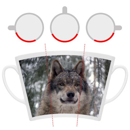 Кружка Латте  Фото 06, Серый волк