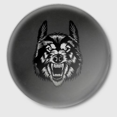 Злой оскал волка