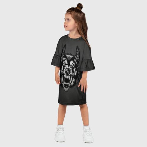 Детское платье 3D  Фото 03, Злой оскал волка