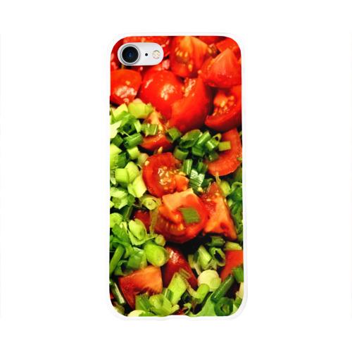 Чехол для Apple iPhone 8 силиконовый глянцевый  Фото 01, Салатик