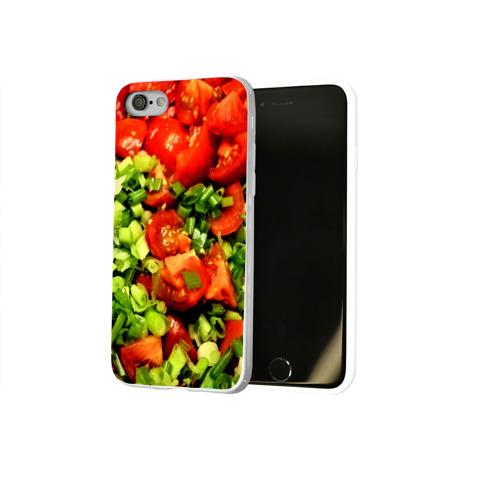 Чехол для Apple iPhone 8 силиконовый глянцевый  Фото 02, Салатик