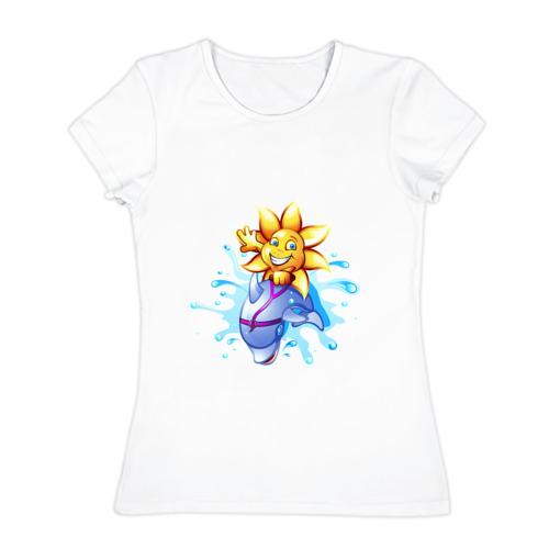 Женская футболка хлопок  Фото 01, Солнышко