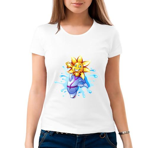 Женская футболка хлопок  Фото 03, Солнышко