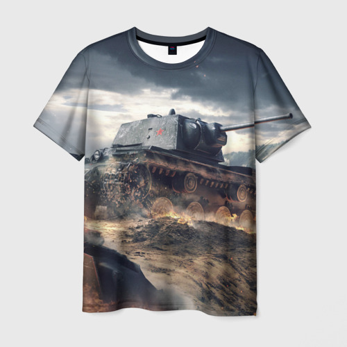 Мужская футболка 3D  Фото 01, Танк