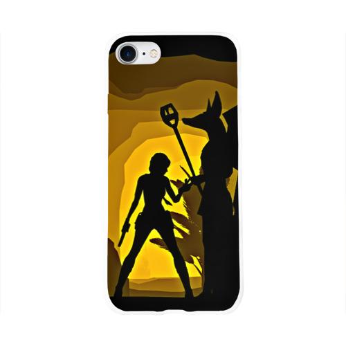 Чехол для Apple iPhone 8 силиконовый глянцевый  Фото 01, Tomb Raider