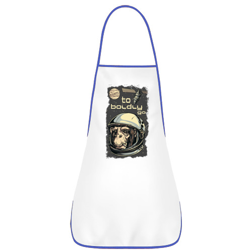 Фартук с кантом  Фото 01, Обезьяна космонавт