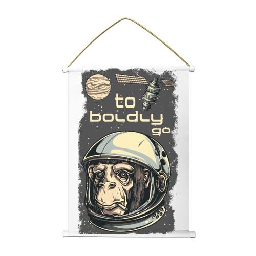 Тканевый плакат  Фото 01, Обезьяна космонавт