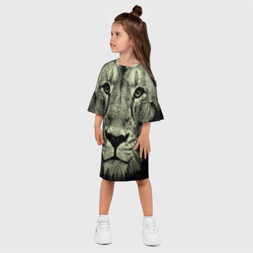 Детское платье 3D  Фото 03, Лев