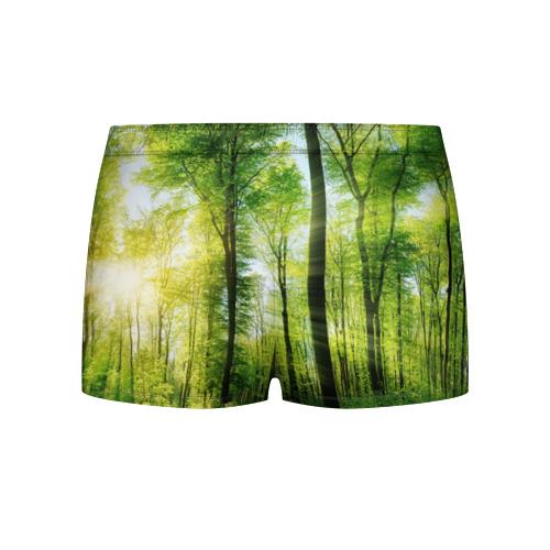 Мужские трусы 3D  Фото 02, Солнечный лес