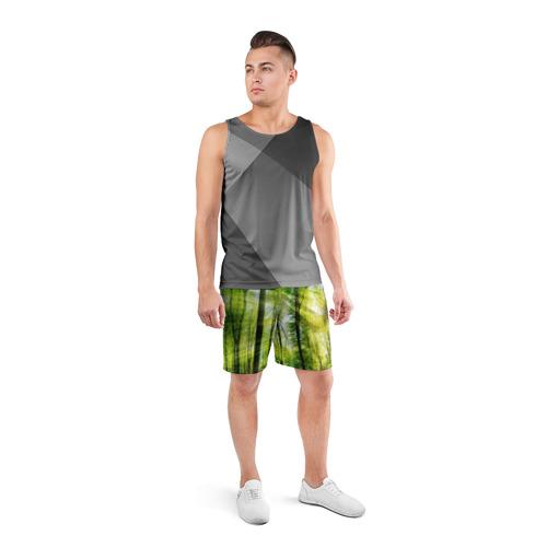 Мужские шорты 3D спортивные  Фото 04, Солнечный лес