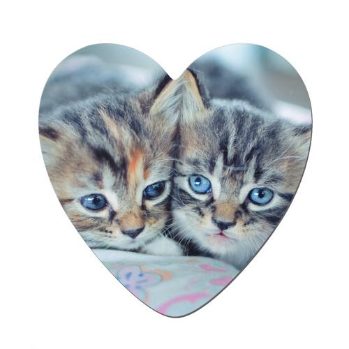Магнит виниловый сердце  Фото 01, Котята