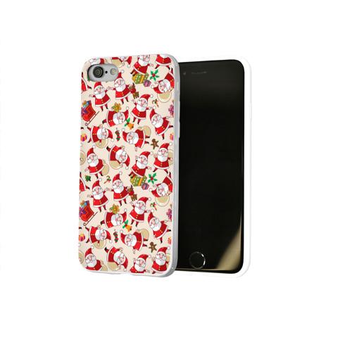 Чехол для Apple iPhone 8 силиконовый глянцевый  Фото 02, Санта