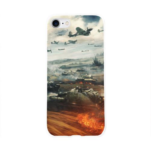 Чехол для Apple iPhone 8 силиконовый глянцевый  Фото 01, Отечественная война