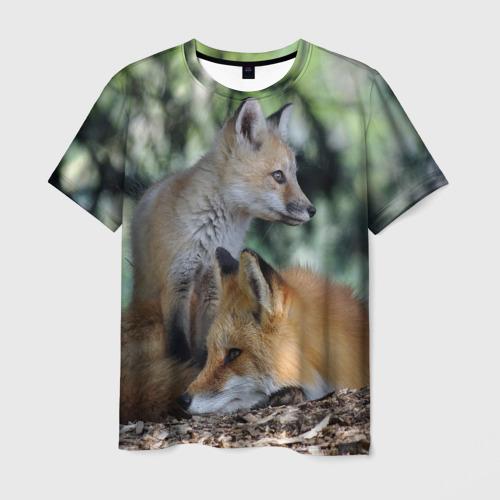 Мужская футболка 3D  Фото 03, Лиса и лесенок