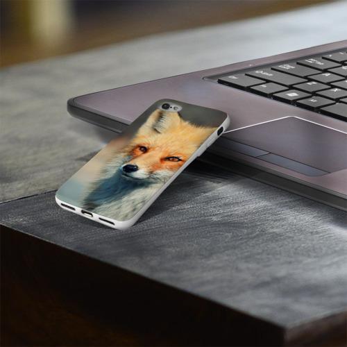 Чехол для Apple iPhone 8 силиконовый глянцевый  Фото 03, Лисица