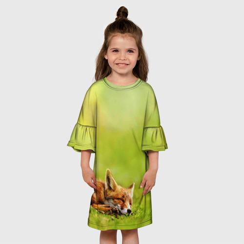 Детское платье 3D  Фото 01, Лисичка спит