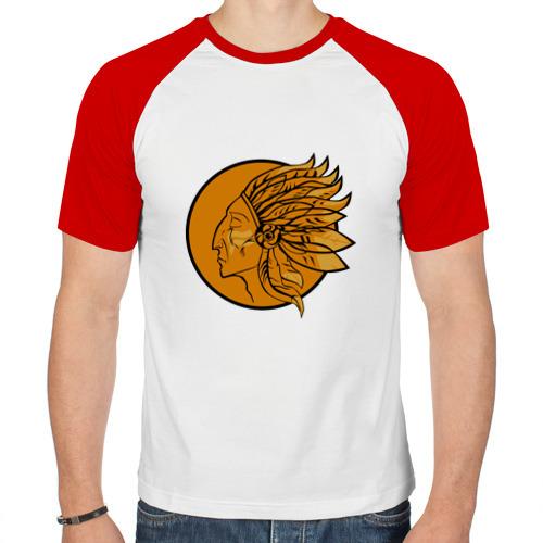 Мужская футболка реглан  Фото 01, Индеец