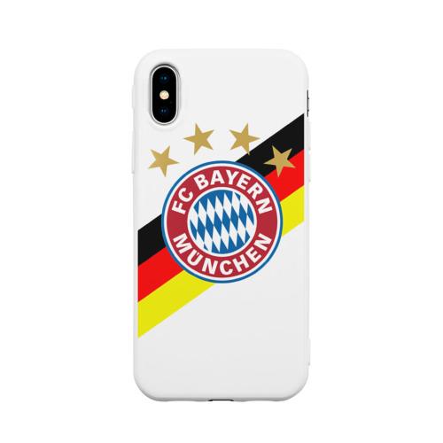 Чехол для Apple iPhone X силиконовый матовый ФК Бавария