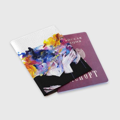 Обложка для паспорта матовая кожа  Фото 03, Поцелуй