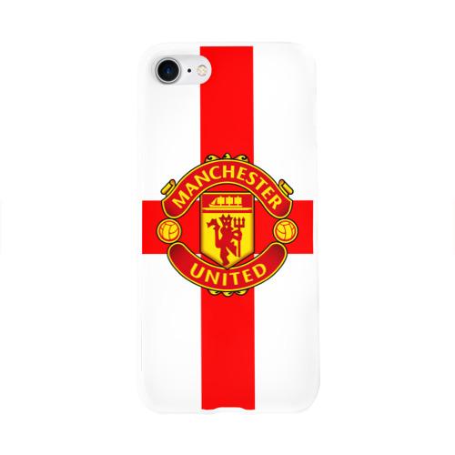Чехол для Apple iPhone 8 силиконовый глянцевый  Фото 01, Manchester united