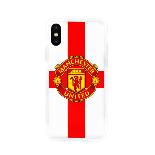 Чехол для Apple iPhone X силиконовый глянцевый Manchester united