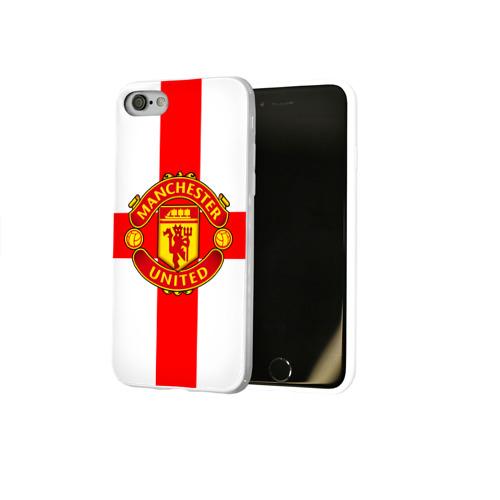 Чехол для Apple iPhone 8 силиконовый глянцевый  Фото 02, Manchester united