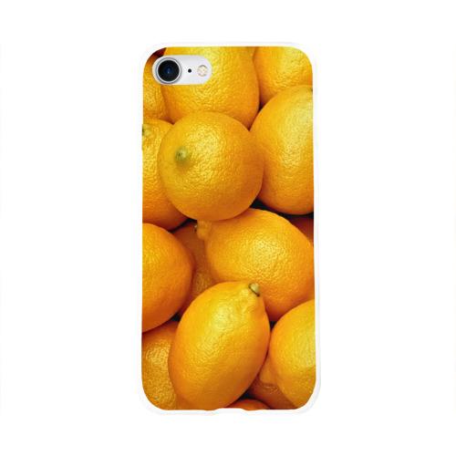 Чехол для Apple iPhone 8 силиконовый глянцевый  Фото 01, Лимончики