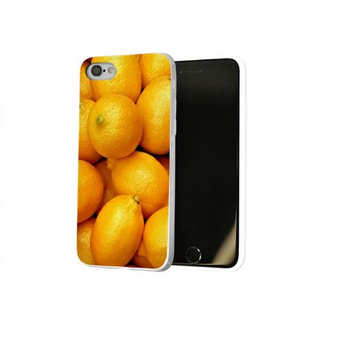 Чехол для Apple iPhone 8 силиконовый глянцевый  Фото 02, Лимончики