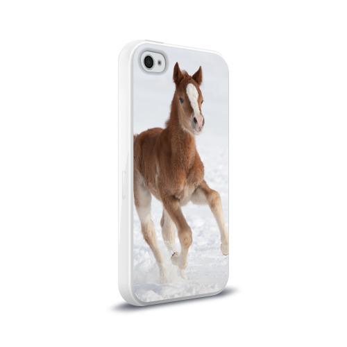 Чехол для Apple iPhone 4/4S силиконовый глянцевый Жеребенок Фото 01