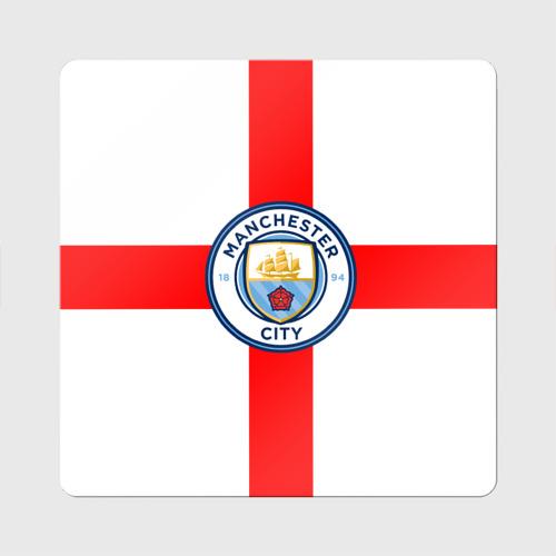 Магнит виниловый Квадрат Манчестер Сити Фото 01