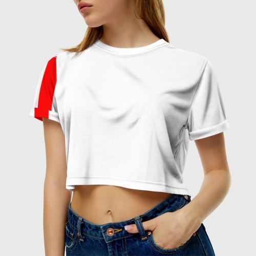 Женская футболка 3D укороченная Сборная Англии