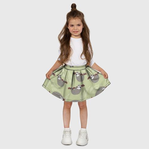Детская юбка-солнце 3D  Фото 03, Ленивец