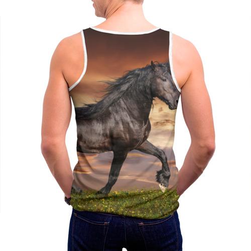 Мужская майка 3D  Фото 04, Черный конь