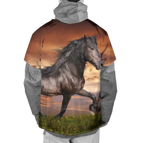 Накидка на куртку 3D  Фото 02, Черный конь