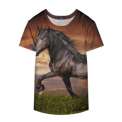Накидка на куртку 3D  Фото 04, Черный конь