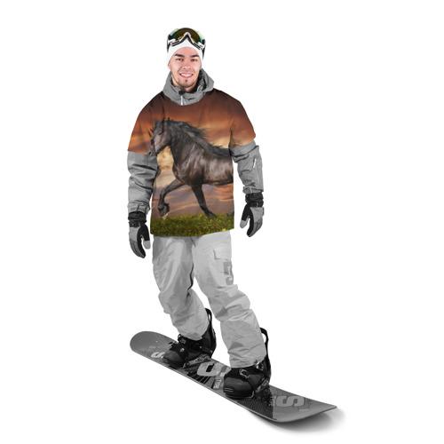 Накидка на куртку 3D  Фото 03, Черный конь