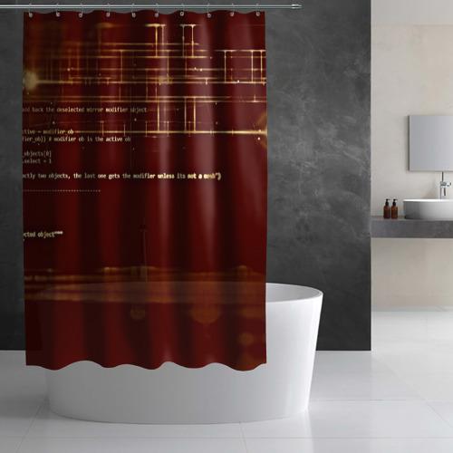 Штора 3D для ванной  Фото 02, Программный код