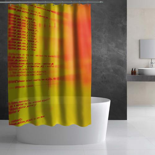 Штора 3D для ванной  Фото 02, Компьютерный код