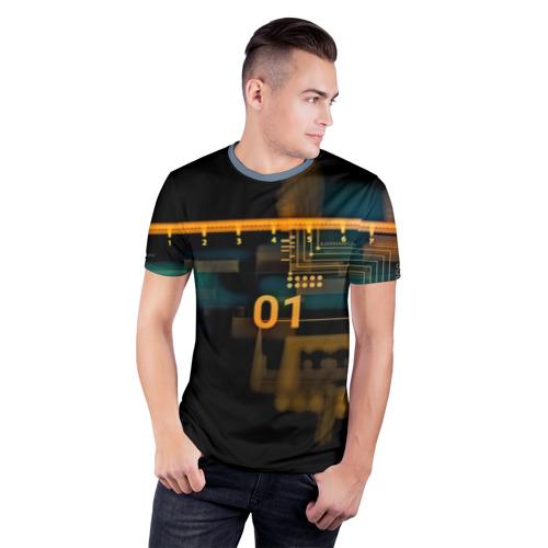 Мужская футболка 3D спортивная  Фото 03, hi-tech