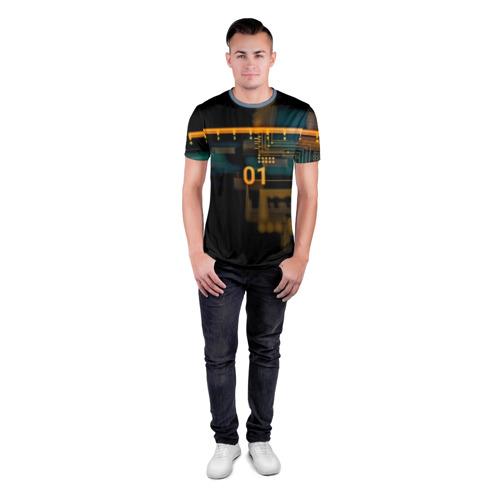 Мужская футболка 3D спортивная  Фото 04, hi-tech