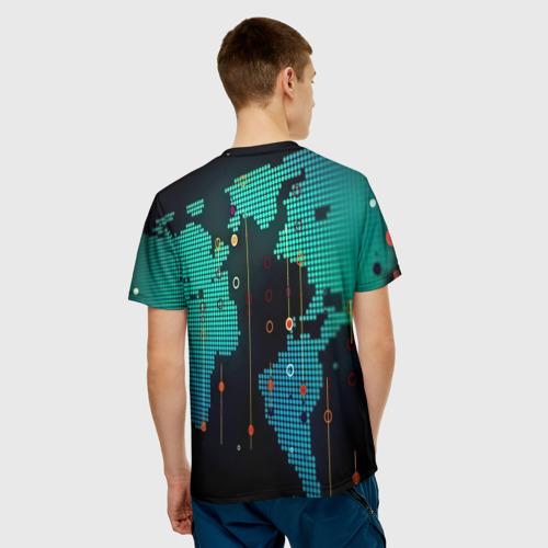 Мужская футболка 3D digital world